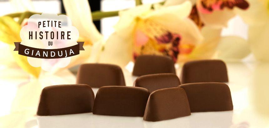 Le Gianduja est une spécialité italienne depuis 1861. C'est une pâte fondante, obtenue par le broyage très fin de noisettes grillées, de sucre glace et de chocolat, noir ou au lait.