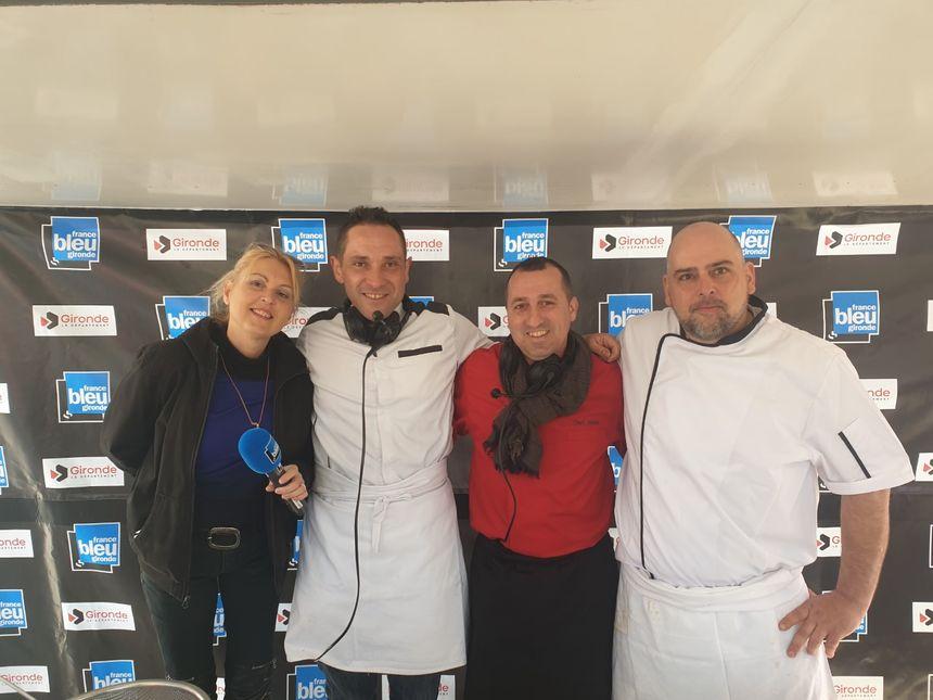 Isabelle Wagner, Chef Sylvain Becary, Chef Jésus et Bruno Collet Second de cuisine