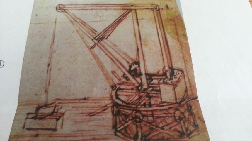 L'esquisse laissée par Léonard de Vinci