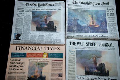 L'incendie de Notre-Dame fait les gros titres partout dans le monde