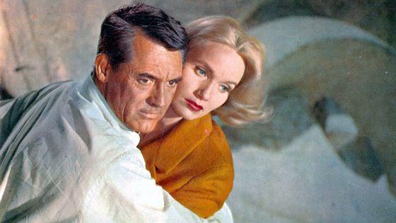 Cary Grant et Eva Marie Saint dans une scène du  film '' La Mort aux trousses'', 1959 / Photo by Metro-Goldwyn-Mayer- Musicopolis