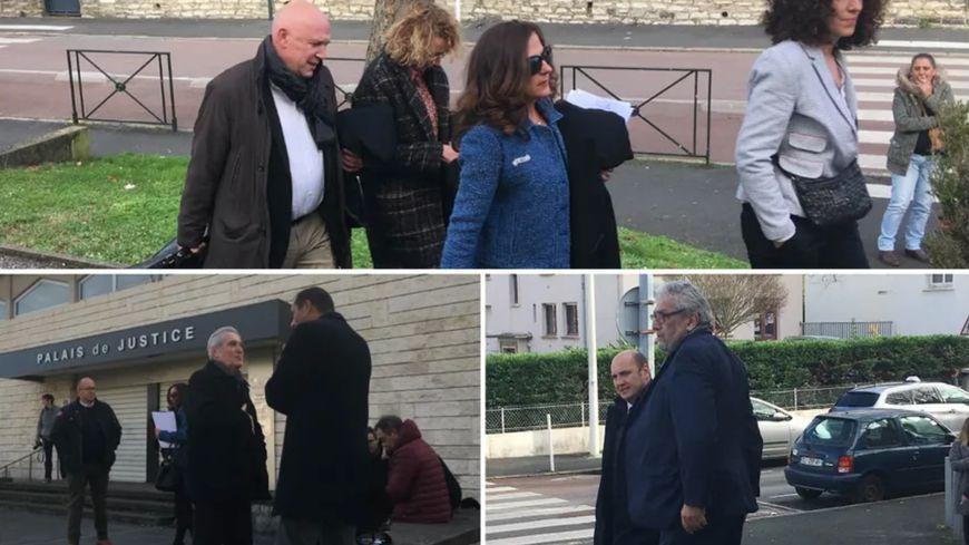 Les prévenus et leurs avocats deva,nt le tribunal de bayonne le 21 décembre dernier.