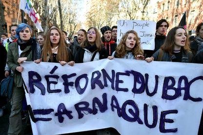 Manifestation contre la réforme du lycée à Toulouse le 11 décembre 2018
