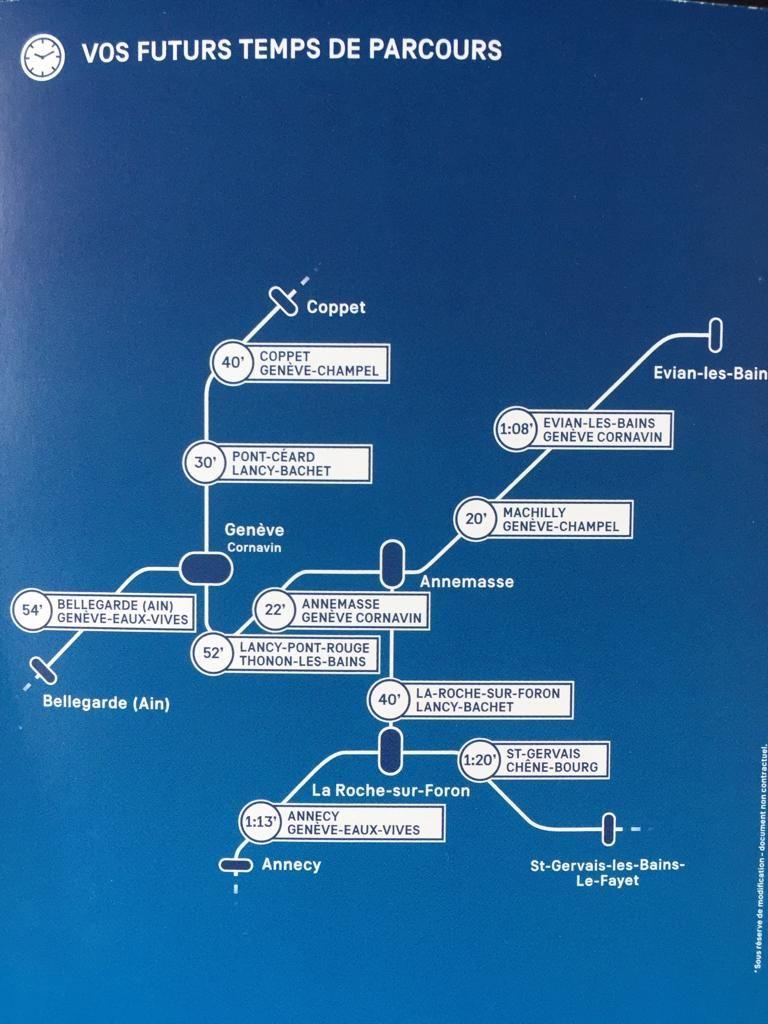 Les futurs temps de parcours promis par le Léman Expresse