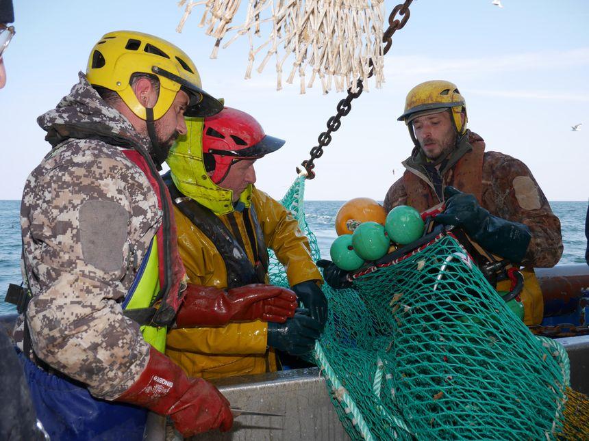 En bassin d'essai, ou en action de pêche en mer, des filets lumineux sont en cours de test dans la région. Des caméras sont installées dans les chaluts pour étudier le comportement des poissons.