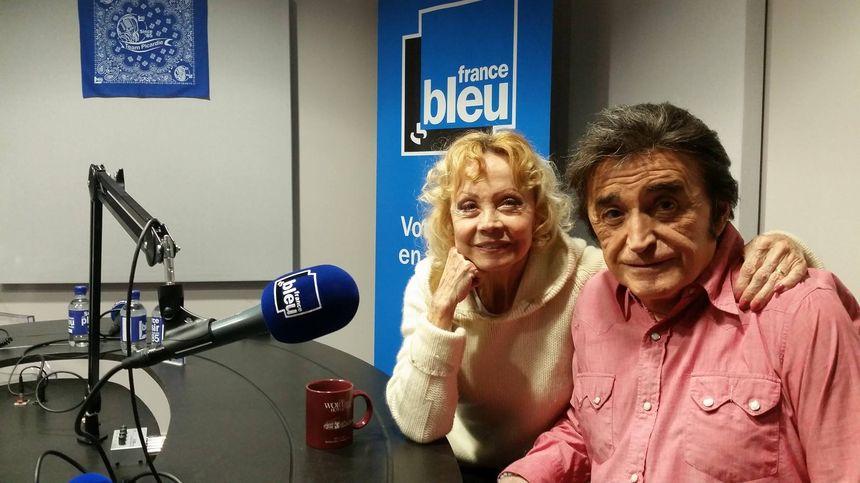 Dick Rivers et Isabelle Aubret dans le studo France bleu au Zénith d'Amiens