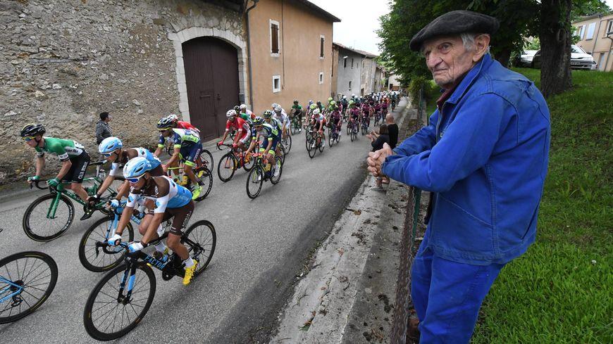 Sur l'étape Saint-Gaudens / Masseube, lors de la Route d'Occitanie 2018