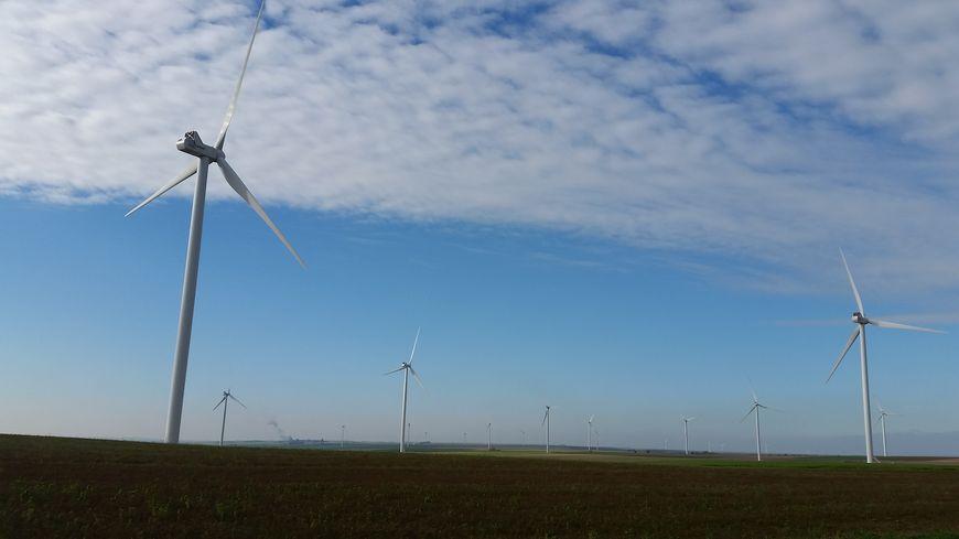 Des éoliennes dans les Ardennes, août 2018.
