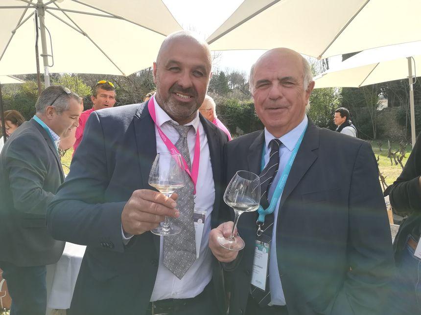 Eric Lambert, président du Syndicat Coteaux Varois et Jean-Jacques Bréban du CIVP