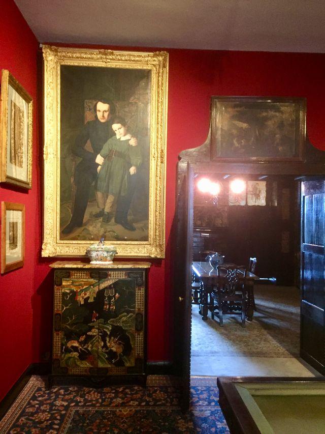 Salle de billard - Portrait de Victor Hugo et François-Victor (Auguste de Chatillon 1836)