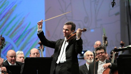 Israeli American violinist Gil Shaham performs with the Israel Philharmonic Orchestra, Tel Aviv, Israel, December 17, 2011