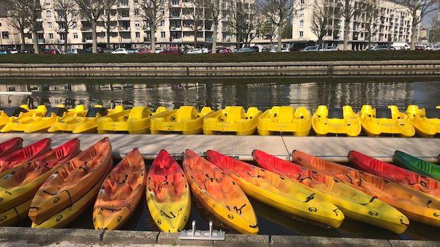 87 embarcations sont proposées au public sur la base nautique des Rives de l'Orne à Caen