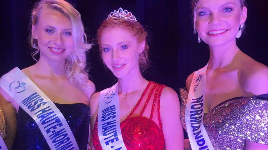 Marine Clautour au centre, élue Miss Haute-Normandie 2019