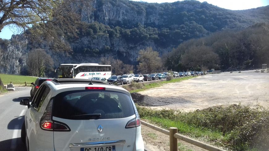 La route du Pont d'Arc le dimanche 25 mars dernier