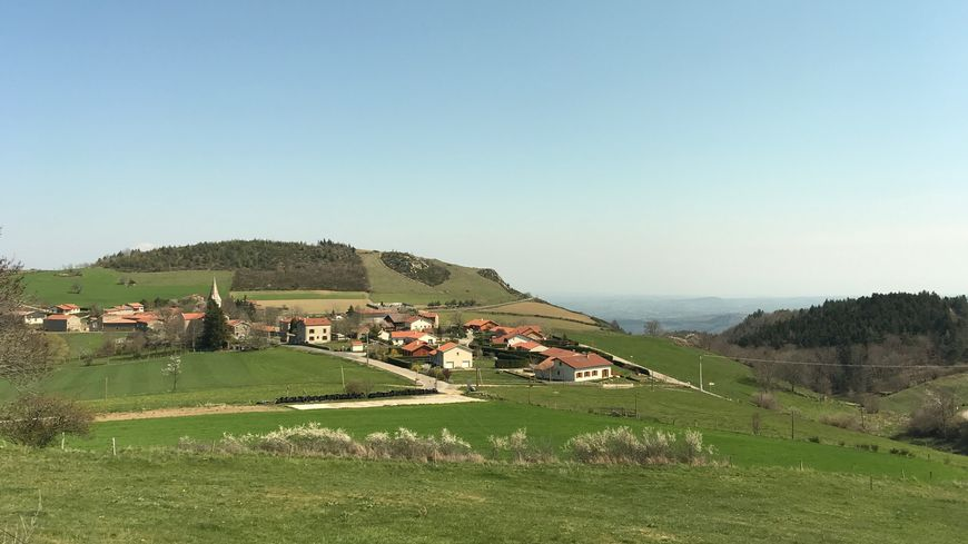 Le village de Burdignes, perdu dans le Pilat.