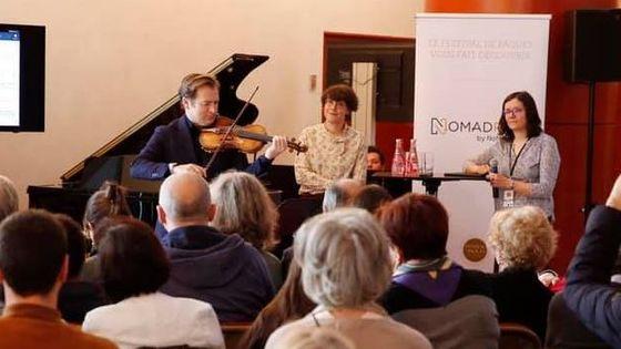 Présentation de l'application NomadPlay au festival de Pâques de Deauville avec Renaud Capuçon en ambassadeur.