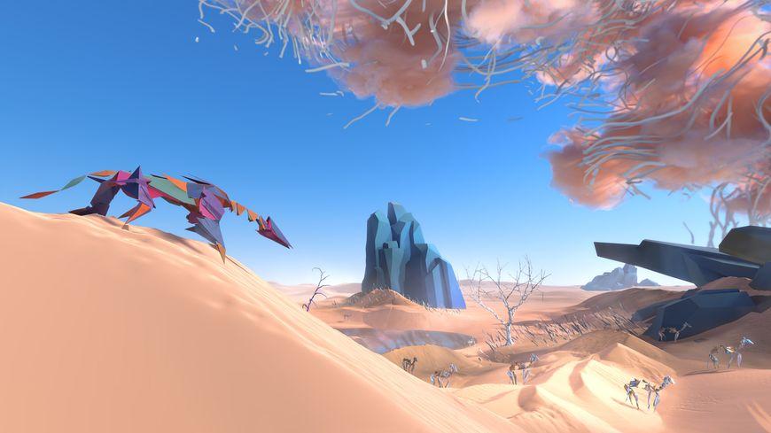 Dans Paper Beast, le joueur interagit avec un univers vivant qui a ses propres règles.