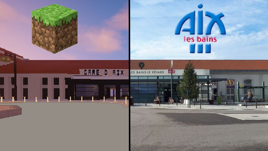Tim Desmet a commencé par reproduire la gare d'Aix-les-Bains