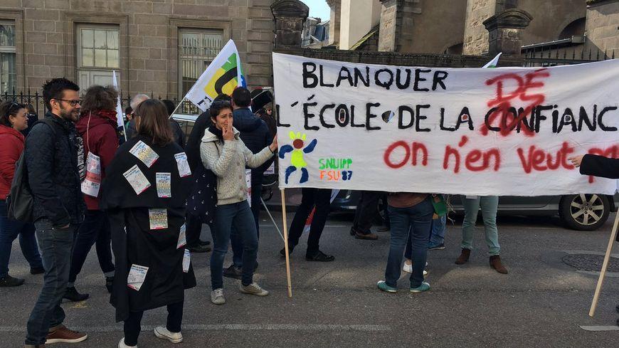 Manif des enseignants le samedi 30 mars à Limoges