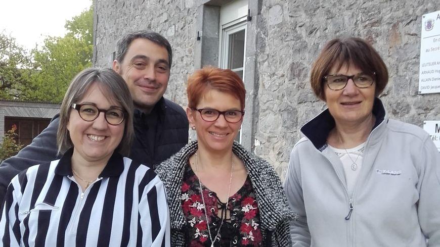 Sébastien Certenais, Ingrid Barroche, Galina Gasnier et Madame la Maire de Saint Georges le Fléchard