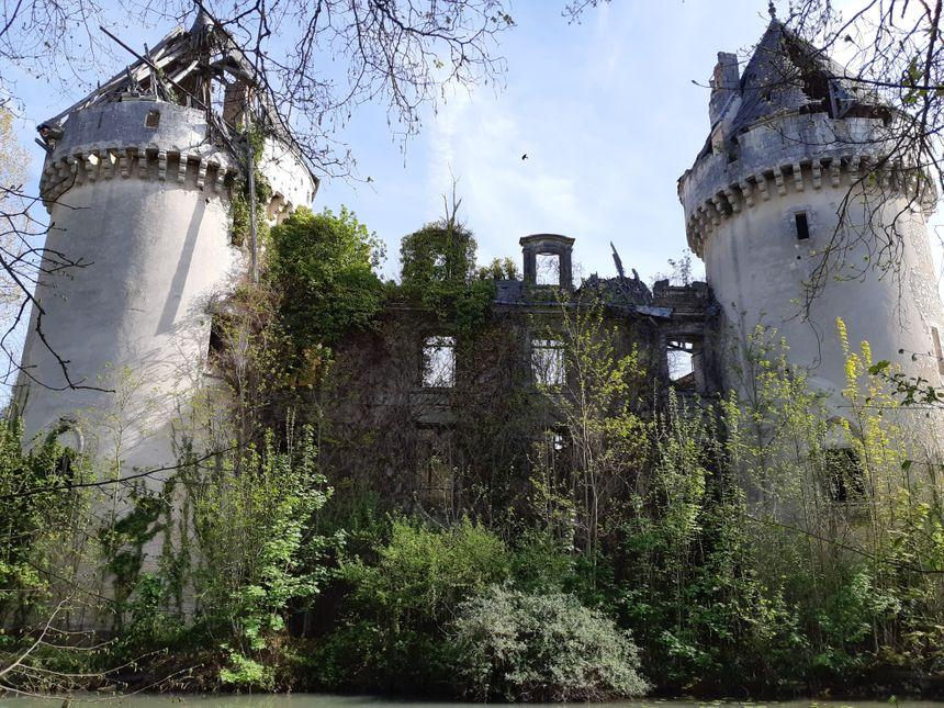 La végétation fragilise le château de Villedieu-sur-Indre