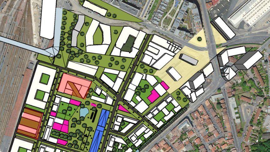 """Le nouveau campus , """"François d'Assises"""" sera construit prochainement dans le quartier Euratlantique"""