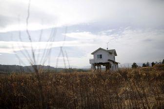 Maison détruite lors du tsunami près de Fukushima