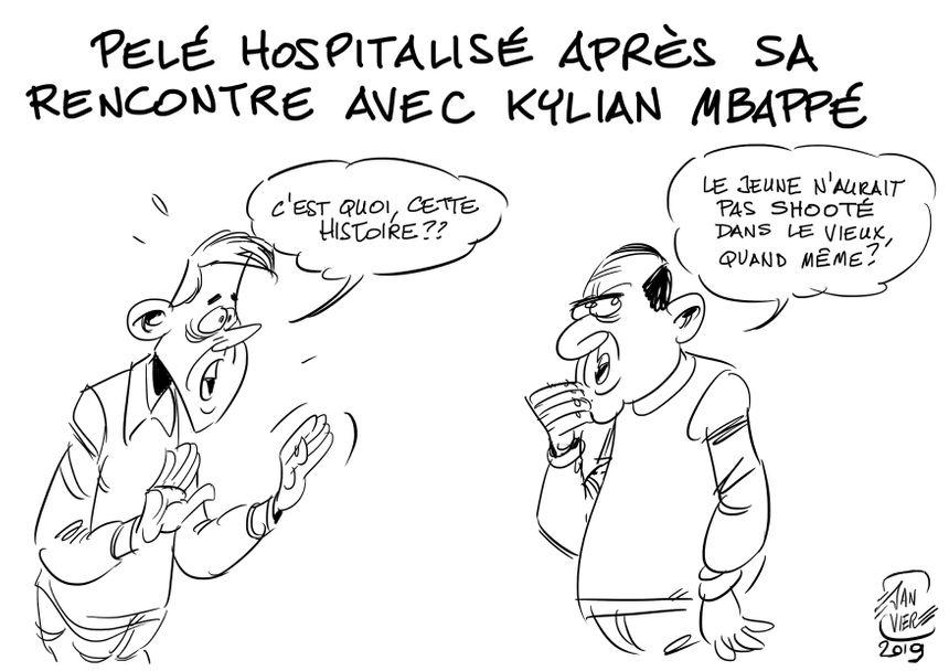 Pelé hospitalisé après sa rencontre avec Kylian Mbappé