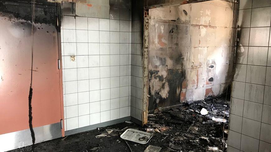 Les dégâts sont importants au self du lycée professionnel Jean-Monnet, au Puy-en-Velay.