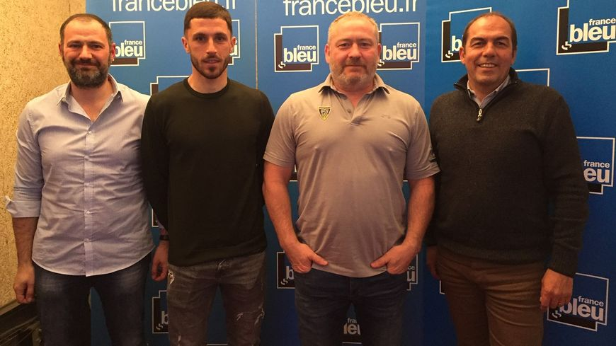 De g. à d. : Jean-Luc Guillet, Jason Berthomier, Didier Bès et Jean-Pierre Morel