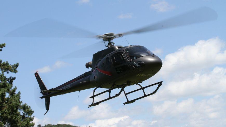 L'hélicoptère de Sébastien Loeb (archives).