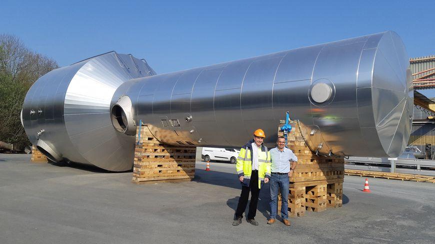 L'entreprise de chaudronnerie CTI ACDN d'Agneaux (Manche) vient de fabriquer un évaporateur de 25 mètres de long.
