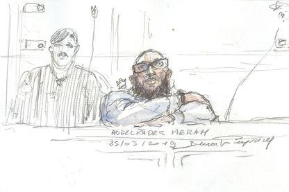 Abdelkader Merah pendant son procès en appel