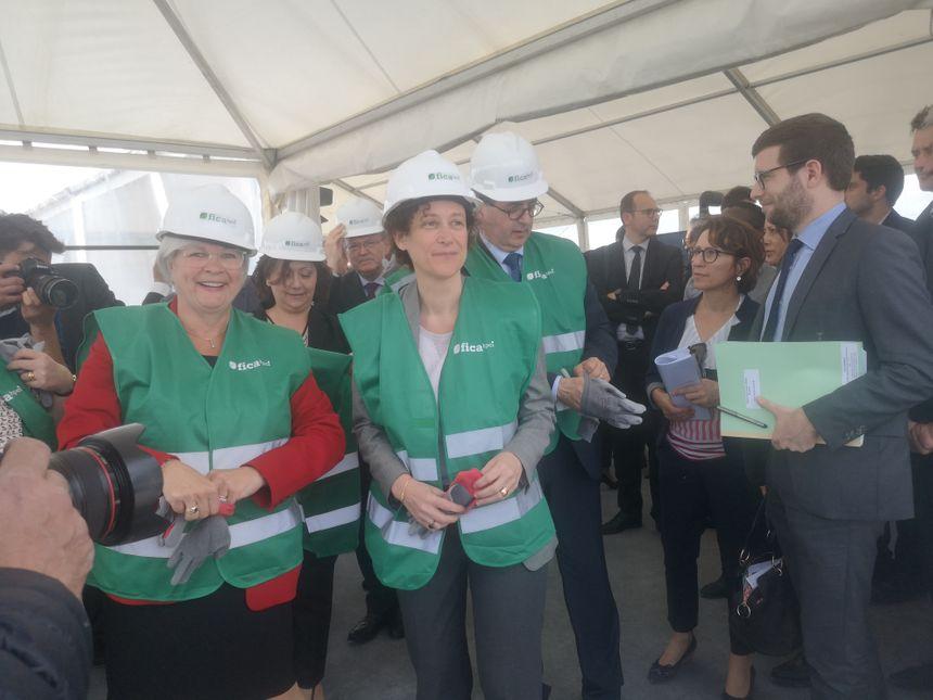 Emmanuelle Wargon et Catherine Vautrin, la présidente du Grand Reims, étaient présentes.