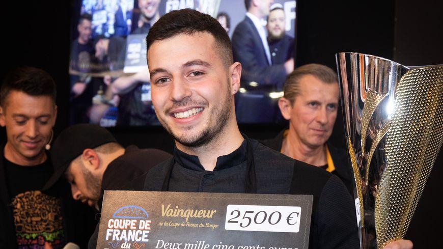 Anthony Verset gagnant de la coupe de france de burger