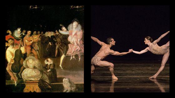 La reine Elisabeth 1 danse avec Robert Dudley et les Danseurs du Kansa City Ballet