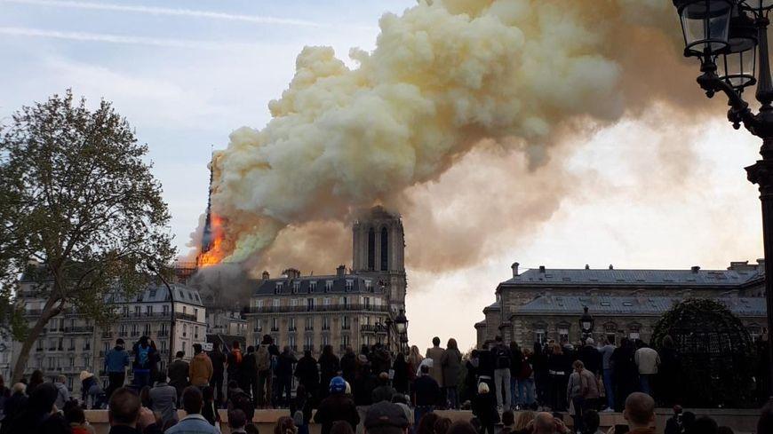 Incendie en cours à Notre-Dame de Paris le 15 avril 2019
