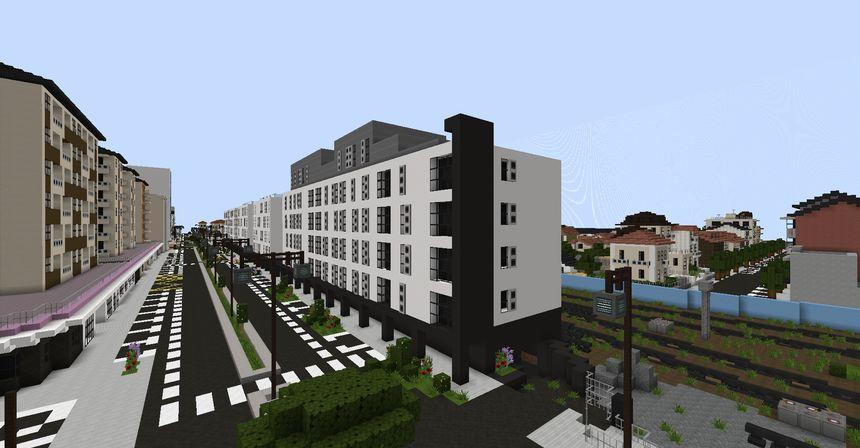 Le boulevard Président Wilson dans Minecraft