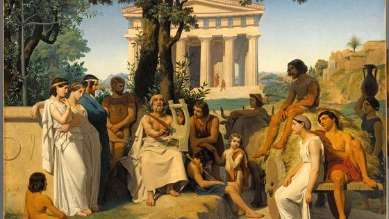 « Homère » ; Leloir, Jean-Baptiste Auguste, 1841