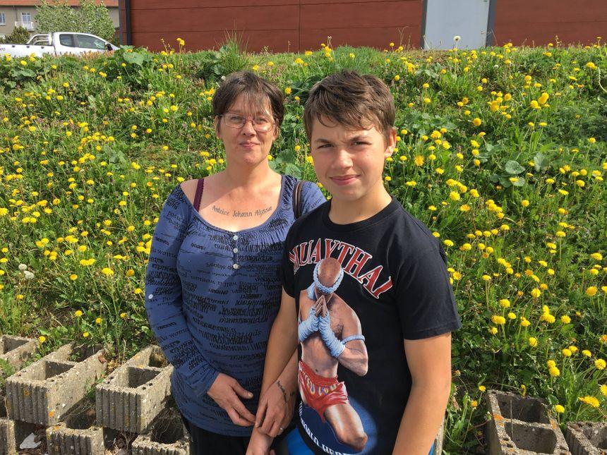 Dorothée Poulain et son fils Johann