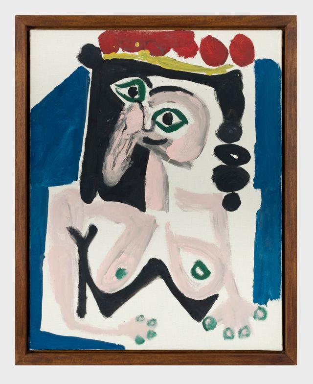 Femme au chapeau rouge, Pablo Picasso, 1965, Fundación Almine y Bernard Ruiz-Picasso para el Arte, Madrid