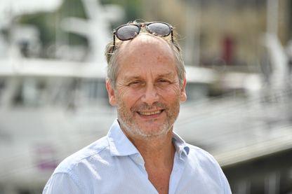 """L'acteur, scénariste, réalisateur et chroniqueur Hippolyte Girardot au """"Festival de fiction TV"""" de La Rochelle, le 13 septembre 2018."""