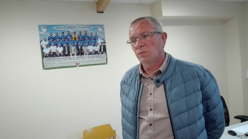 Le président du Sablé FC, Gérard Gautier