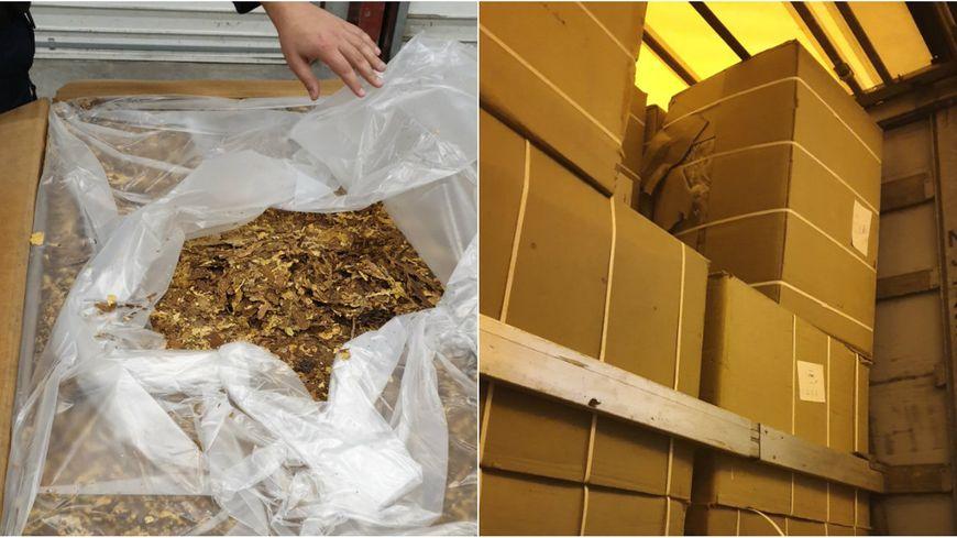 Les 17 tonnes de tabac étaient réparties dans les 114 cartons retrouvés dans un poids-lourd à destination de l'Estonie.