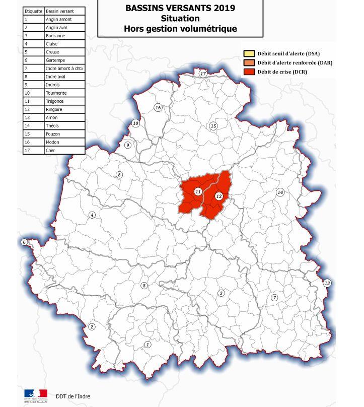 13 communes sont concernées par les mesures de restriction d'eau