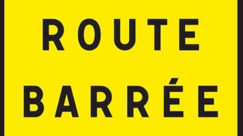 Effondrement / route barrée