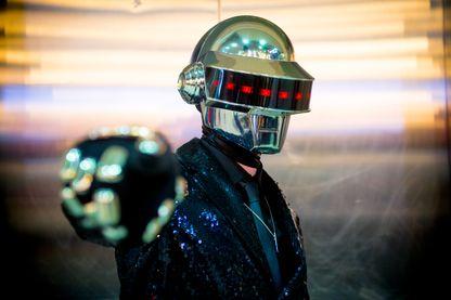 L'un des Daft Punk, groupe de musique électronique, composé de Thomas Bangalter et Guy-Manuel de Homem-Christo, le 29 octobre 2016 à Londres.