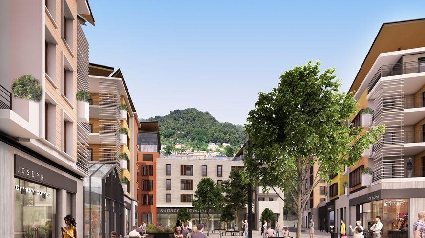 Le projet de ZAC (zone d'activité commerciale) Martelly à Grasse présenté par Bouygues immobilier