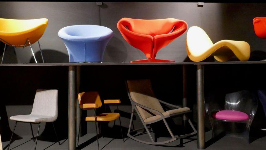 Les sièges iconiques de ©Pierre Paulin exposés au musée des Vallées Cévenoles