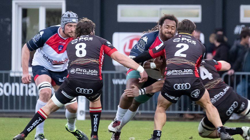 Les joueurs de Rouen en mars dernier contre l'Union Cognac.